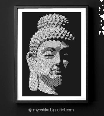 buddhagata2_framed_blk